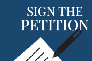 Home Page Slider - Sign the Petition